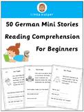 German Reading Comprehension  50 Mini Stories