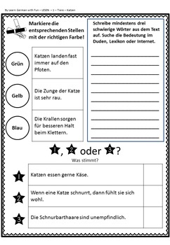 German Reading Comprehension- Deutscher Sachtext- Lesen 1 - Tiere