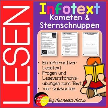 German Reading Comprehension- Deutscher Sachtext- Sternsch