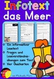German Reading Comprehension- Deutscher Sachtext- das Meer