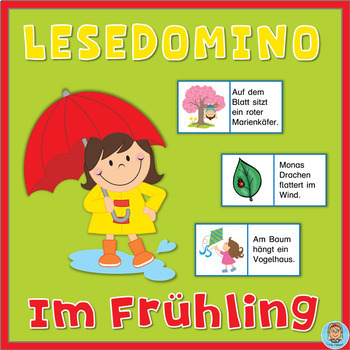 German Reading Domino - Im Frühling