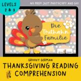 German Reading, Thanksgiving, Writing Prompt, Family, Desc