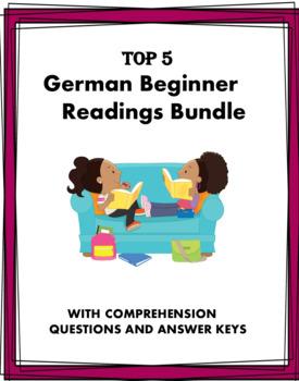 German Beginner Reading Bundle: Familie, Schule, Sport - 4 Lesungen! (A1/A2)