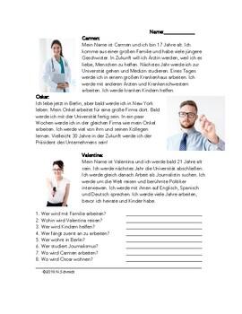 German Reading in Future Tense - Deutsch Lesung mit Zukunft - werden