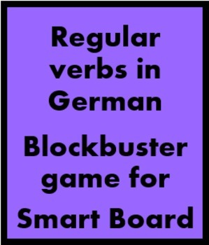 German Regular Verbs Blockbuster game for Smartboard