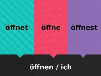 German Regular verbs Fliegenklatsche Flyswatter game