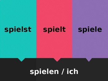 German Regular verbs Fliegenklatsche Flyswatter game