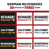 German Rejoinder & Useful Phrases Posters