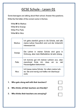 German Revision Pack - Die Schule