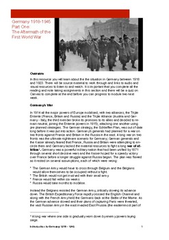 German Revolution and the Weimar Republic: Student workbook
