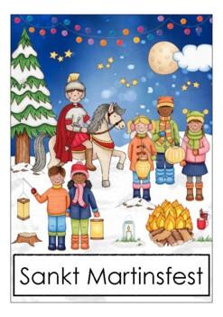 German Saint Martin Martinstag Flash Cards Bildkarten Deutsch Deutschland