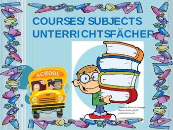 German School Subjects Unterrichtsfächer (Niveau A1-A2)