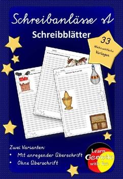 German- Schreibblätter und Schreibanlässe- Weihnachten