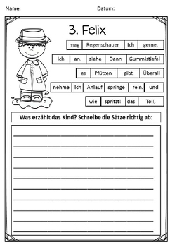 German- Schüttelsätze für DaF