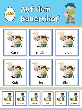 German Scrambled Sentences  Auf dem Bauernhof