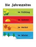 German Seasons Mini Poster