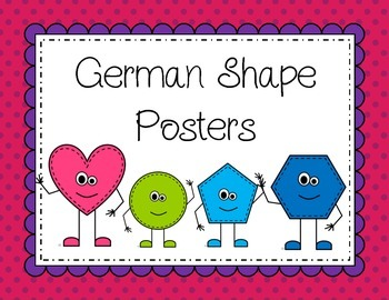 German: Shape posters (Formen)