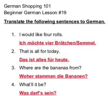German Shopping 101 - Beginner German #19