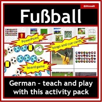 German: Soccer / Football Activity Pack