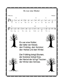 German Song - Es war eine Mutter