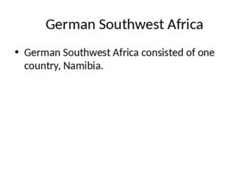 German Southwest Africa