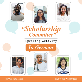 """German Speaking Activity in Groups: """"Who should win the scholarship?"""""""