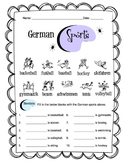 German Sports Worksheet Packet