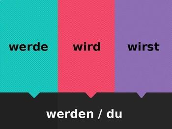 German Stem-changing verbs Fliegenklatsche Flyswatter game