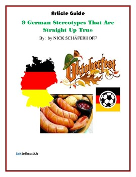 (GERMAN GEOGRAPHY BASICS) German Stereotypes: Reading Article and Guide