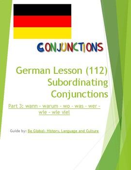 (GERMAN LANGUAGE)  Subordinating Conjunctions - Part 3