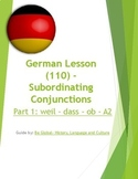 (GERMAN LANGUAGE) German: Subordinating Conjunctions -SET of 3
