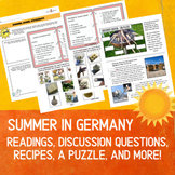 German Summer, Cultural Readings, State Preferences, Recipes