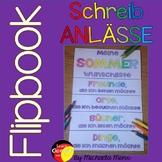 German Summer Flip Book- Deutsche Schreibanlässe - Flipbuc