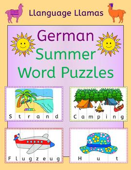 German Summer Word Puzzles