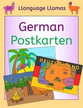 German Summer vacation - write a postcard - Postkarten