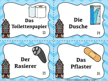German Task Cards Kitchen and Bath