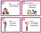 German Task Cards on Present Tense Verbs - Verben $1 DEAL!