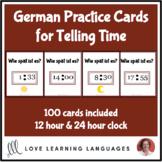 German - Telling time task cards