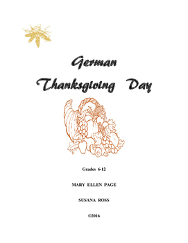 German Thanksgiving Activities Gr. 6-12