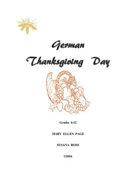 German Thanksgiving Activities Gr. 6-12