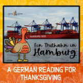 German Thanksgiving Reading with Optional Prepositions Review