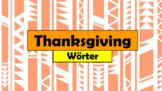 German (Deutsch) - Thanksgiving Vocabulary - PowerPoint +