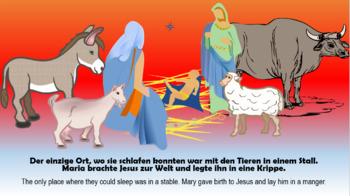 German (Deutsch) - Christmas - The Nativity (Die Geburt Christi) - PowerPoint