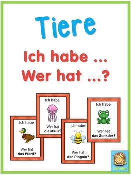 German animals  Ich habe ... Wer hat ...? game