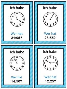 German Time  Ich habe ... Wer hat ...? game
