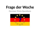 German Level 1-2 Trivia Questions - Powerpoint (in English)