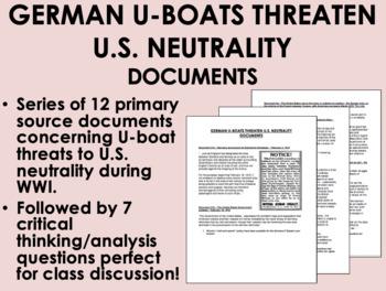 German U-Boats Threaten US Neutrality Documents - US HistoryAPUSH