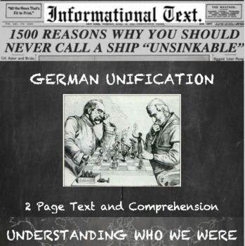 German Unification--Informational Text Worksheet