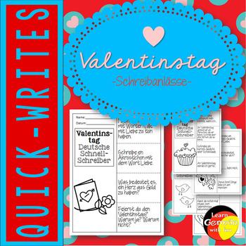 Schreibanlässe zum Thema Valentinstag