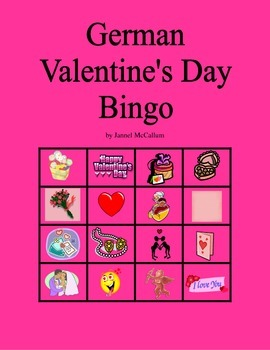 German Valentine's Day Bingo